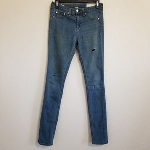 Rag & Bone 10 Inch Skinny Distressed Jeans 26